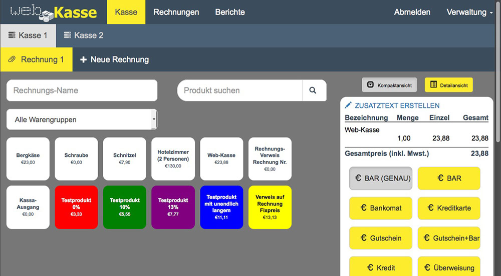Web-Kasse-Screenshot