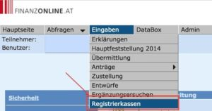 Anlegen Webservice Zugang Web-Kasse FinanzOnline 1-1