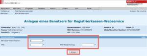 Anlegen Webservice Zugang Web-Kasse FinanzOnline 1-3