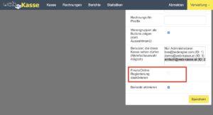 Web-Kasse FinanzOnline Registrierung aktivieren